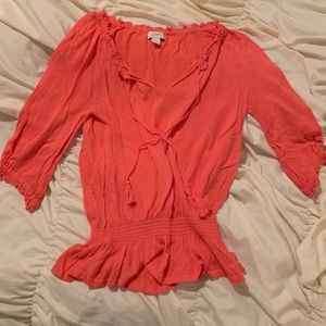Ann Taylor Loft coral blouse